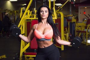 Sexy fitness woman doing sport
