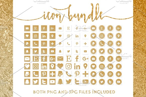 Gold And White Icon Bundle