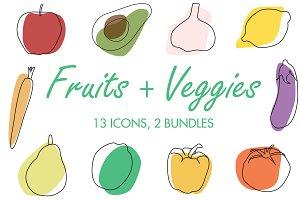 Modern Fruits and Veggies