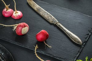 Concept of fresh radishes