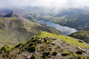 Track in Snowdonia National Park, North Wales
