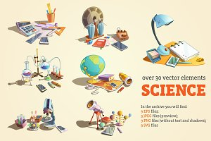 Science Cartoon Set