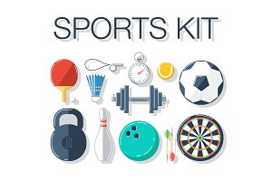 Sports kit. Vector illustrations.