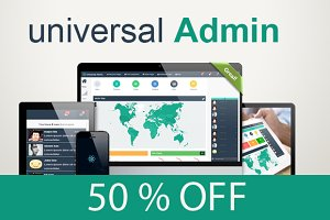 Universal Admin-Responsive template