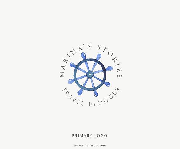 Lifestyle Travel Blogger Custom Logo