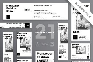Banners Pack | Menswear Show