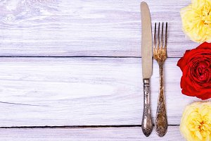 Iron cutlery fork and knife