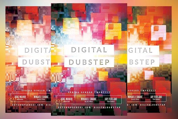 Digital Dubstep Flyer