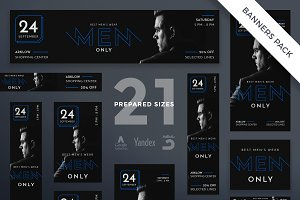 Banners Pack | Mens Wear