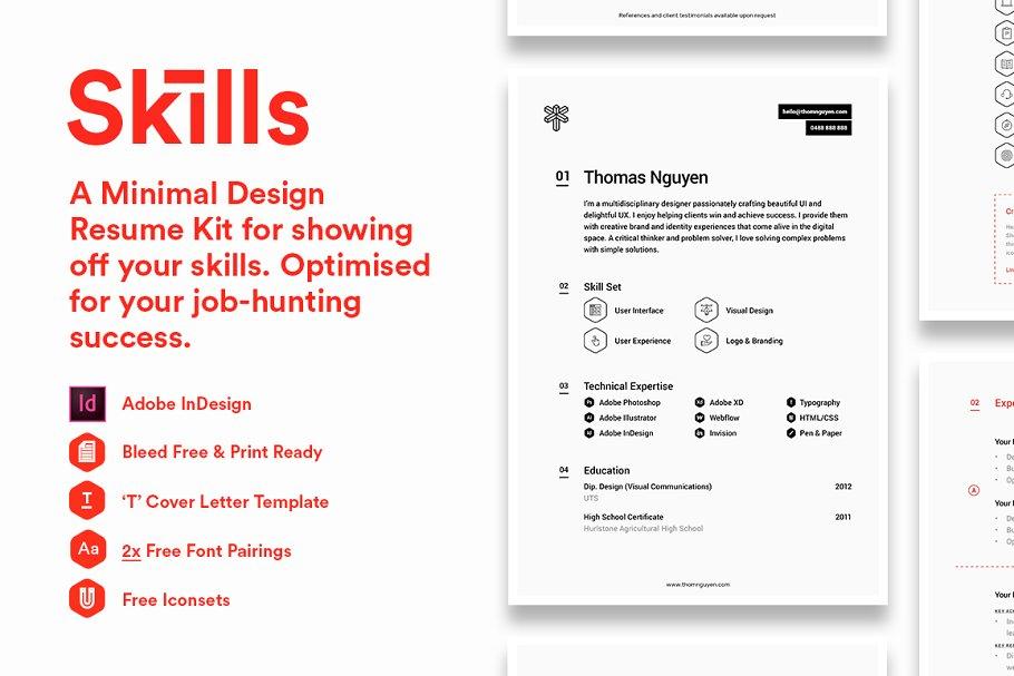 Skills Resume Kit Resume Templates Creative Market