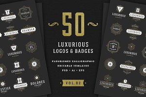 50 Ornament logos & badges