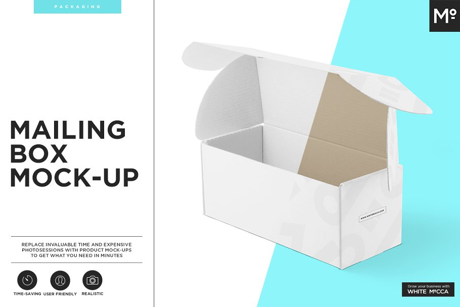 Mailing Box Mock-up in Templates