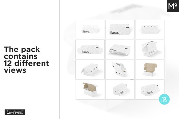 Mailing Box Mock-up in Product Mockups - product preview 1