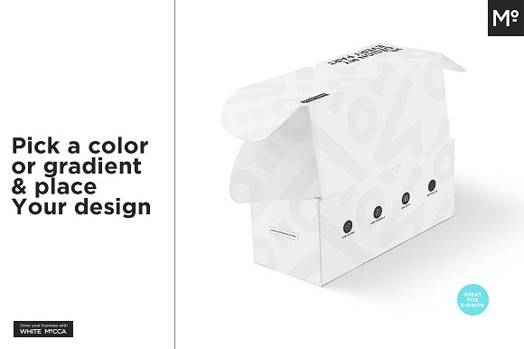 Mailing Box Mock-up in Product Mockups - product preview 3