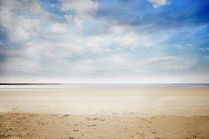 Serene beach landscape