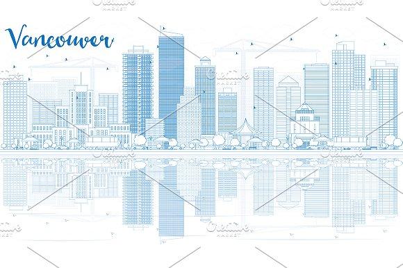 Outline Vancouver Skyline