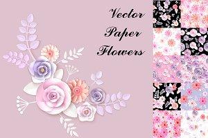 Vector Paper Flowers
