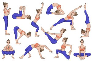 25 Yoga poses. Part 3