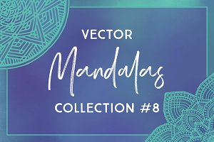 Vector Mandalas Collection #8