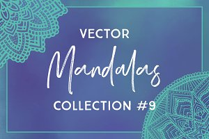 Vector Mandalas Collection #9