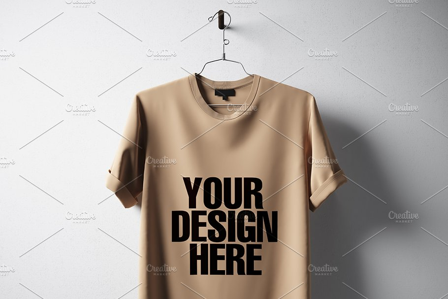 Blank T Shirt Mockup Template