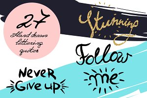 27 Hand drawn lettering quotes