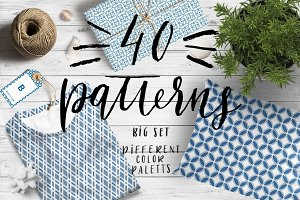 40 seamless patterns set