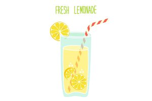 Cute vintage card Fresh Lemonade