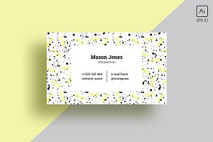 """Minimalism in trend"" business card"