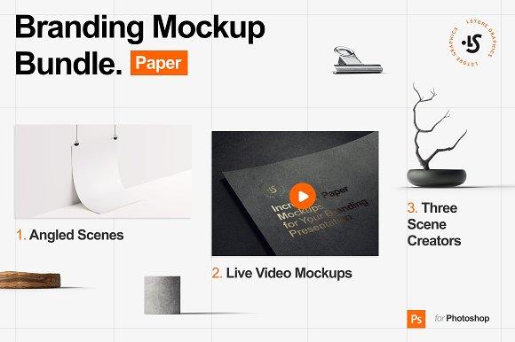 Branding Mockup Bundle Paper Product Mockups Creative Market