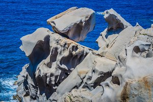 Granite rocks on capo Testa near Santa di Gallura, Sardinia, Italy