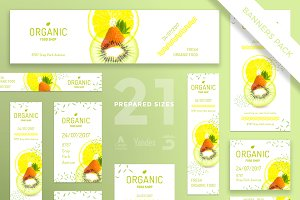 Banners Pack | Organic Food