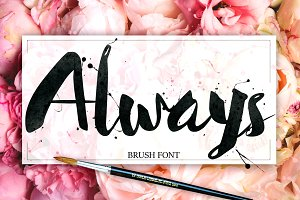 Always Brush Font