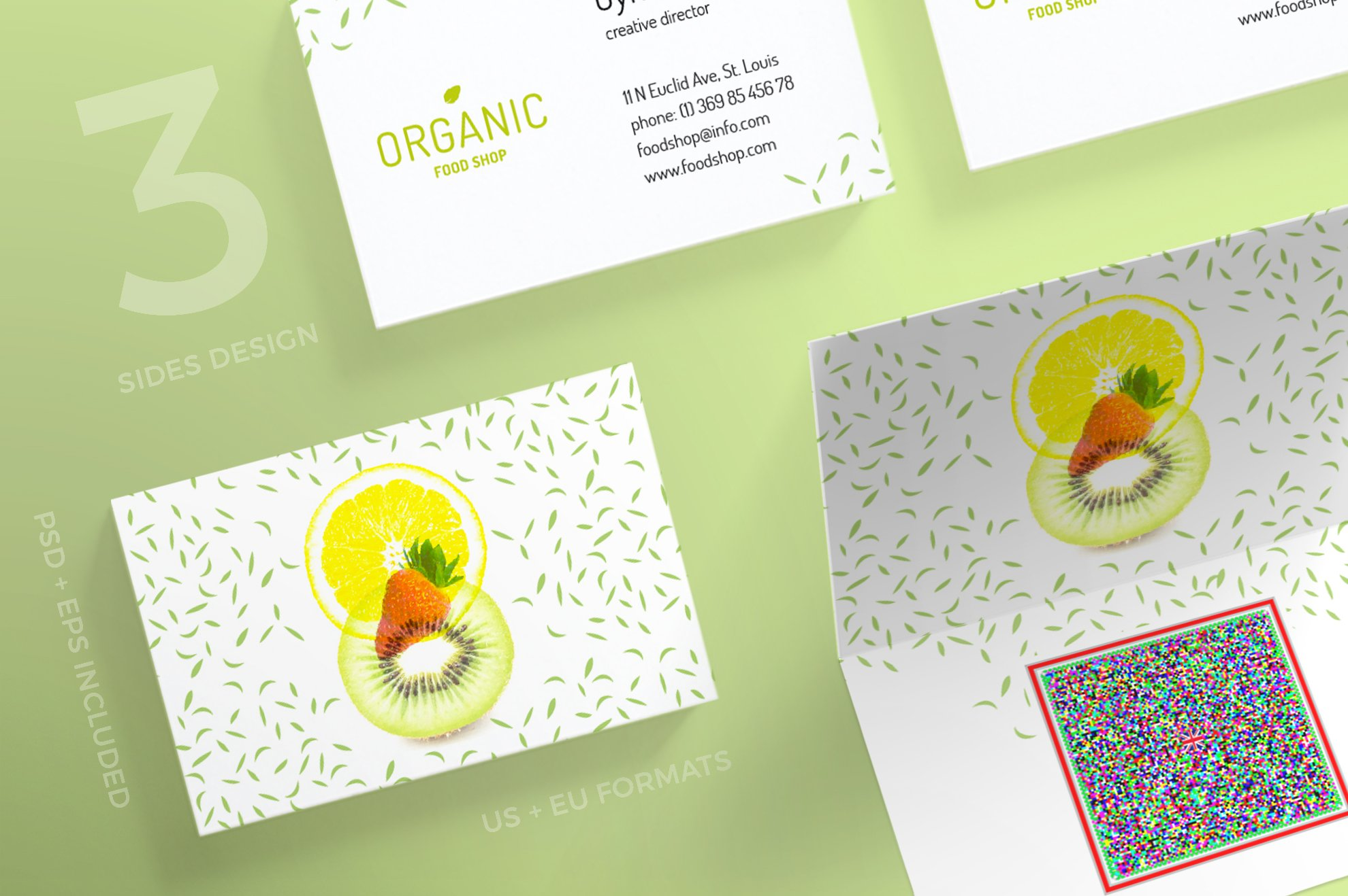 Business Cards | Organic Food ~ Business Card Templates ~ Creative ...