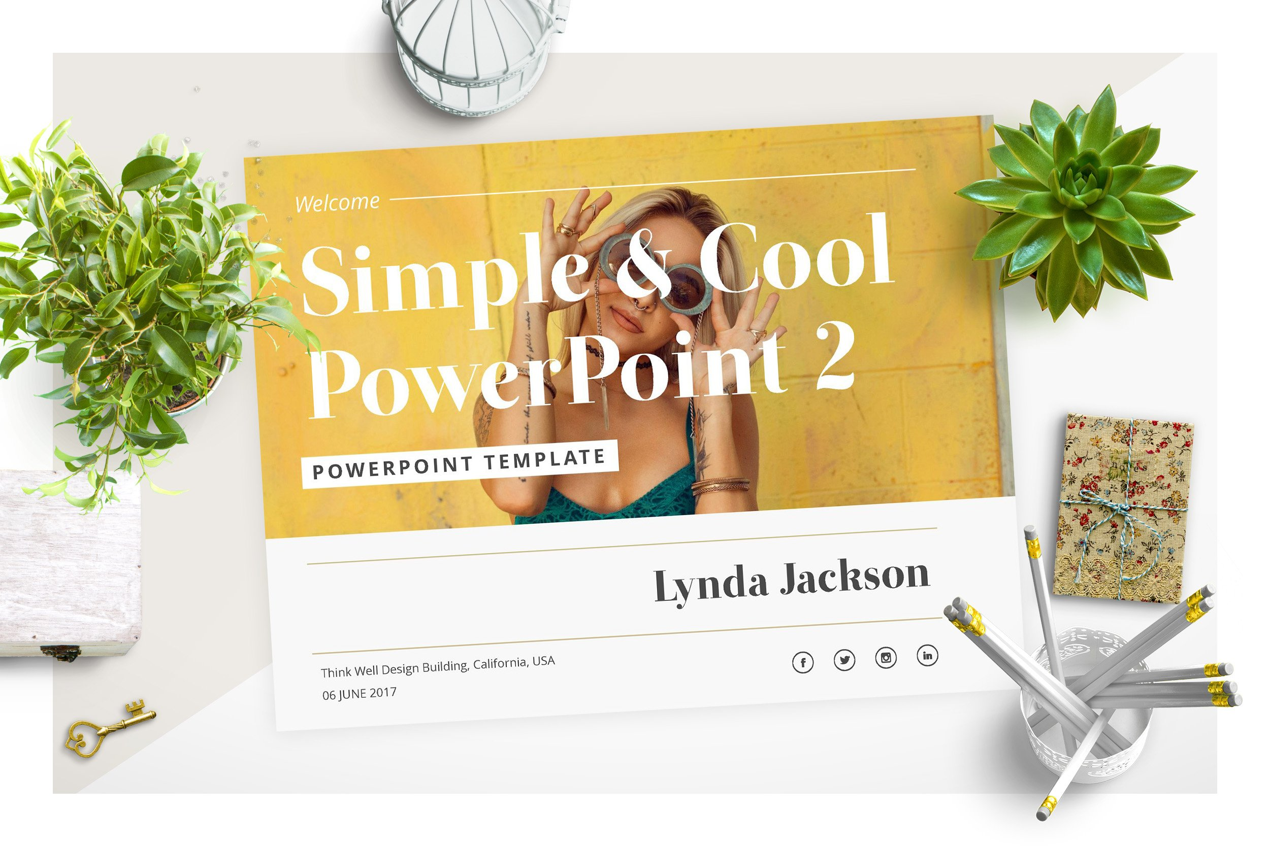 Simple Cool Powerpoint Template 2 Creative Powerpoint Templates Creative Market