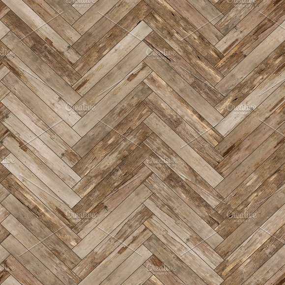 Seamless wood parquet texture (herringbone old) in Textures