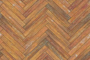 Seamless wood parquet texture (herringbone old)