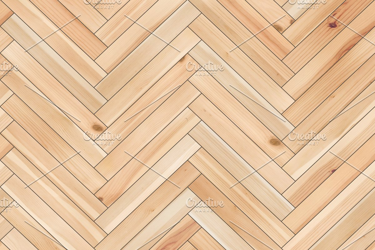Seamless wood parquet texture (herringbone sand color) in Textures - product preview 8