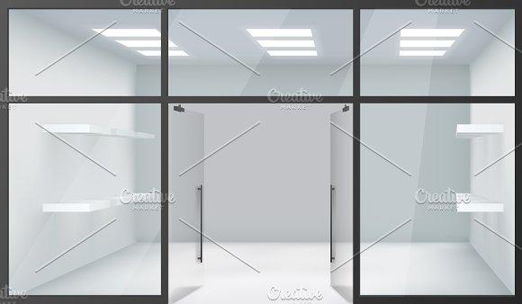shop empty interior product mockups