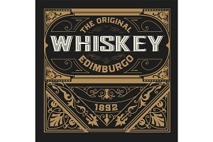 Whiskey design for label and packaging