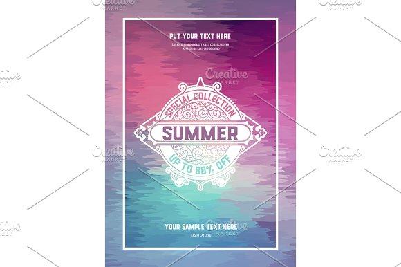 Summer Card Vintage Style