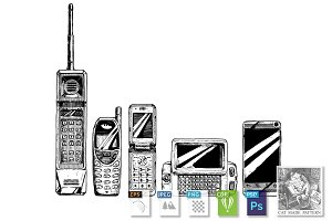 evolution set of mobile phone