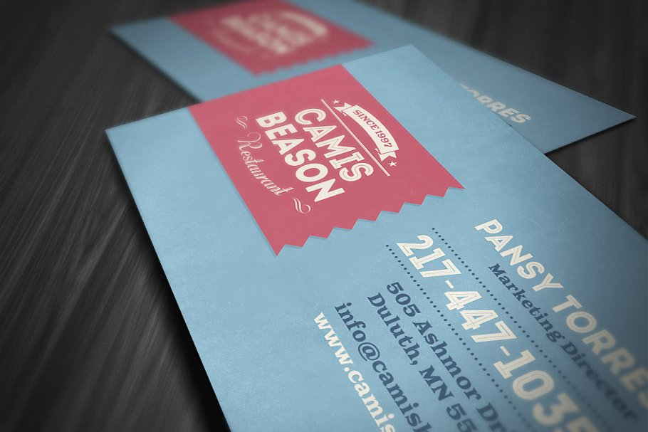 Retro Business Card 2 in Business Card Templates - product preview 1