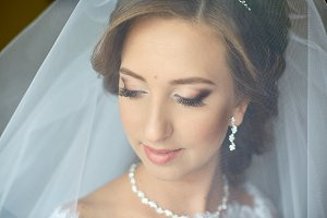 Gorgeous bride under the veil