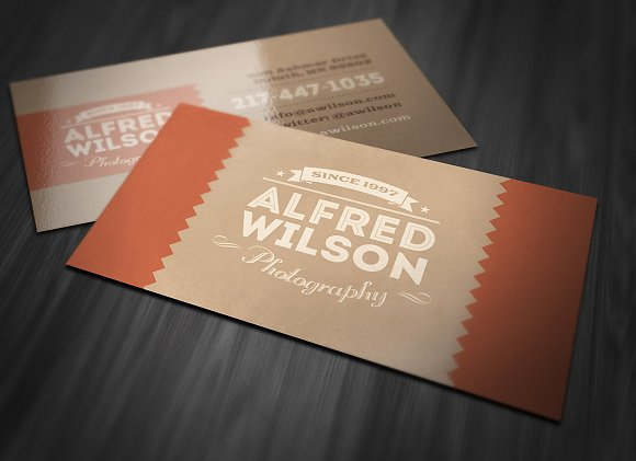 Retro Business Card 2 in Business Card Templates - product preview 2