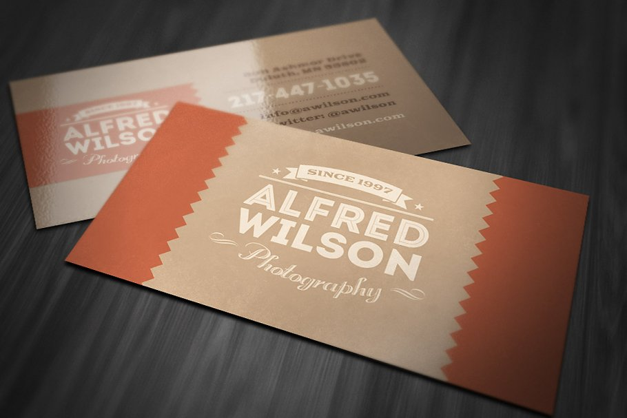 Retro Business Card 2 in Business Card Templates
