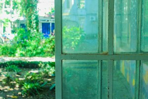 Vintage Iron Window Garden