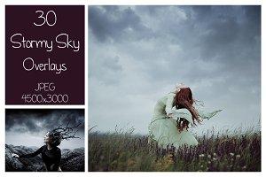 30 Stormy Sky Overlays