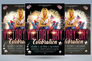 Victory Day Celebration flyer