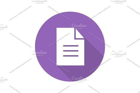 New Document Flat Design Long Shadow Icon